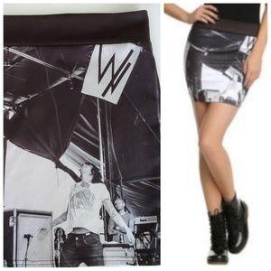 HOT TOPIC Sleeping With Sirens photo mini skirt